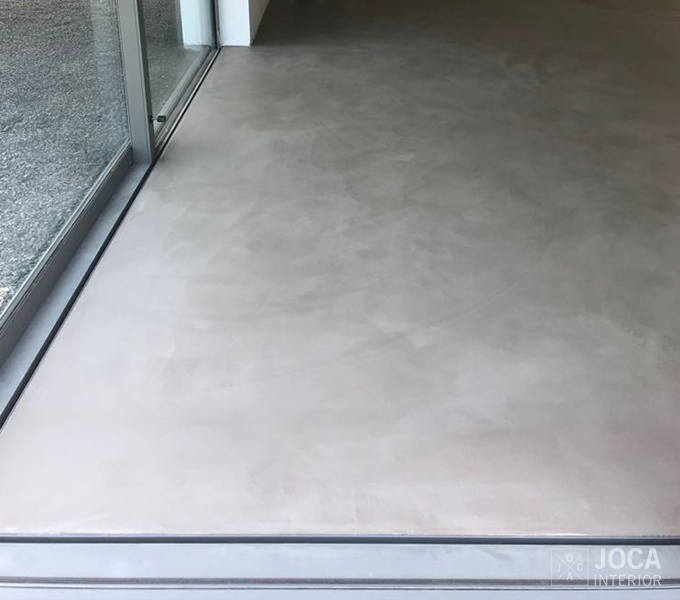 Mortex - microtopping - vloer - living